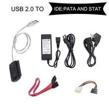 INGELON SATA/PATA/IDE USB 2,0 адаптер конвертер кабель для 2,5/3,5 жёсткий диск s HDD жесткий диск адаптер
