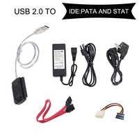 INGELON SATA/PATA/IDE USB 2.0 Adaptateur Convertisseur Câble pour 2.5/3.5 Disques Durs HDD disque dur adaptateur