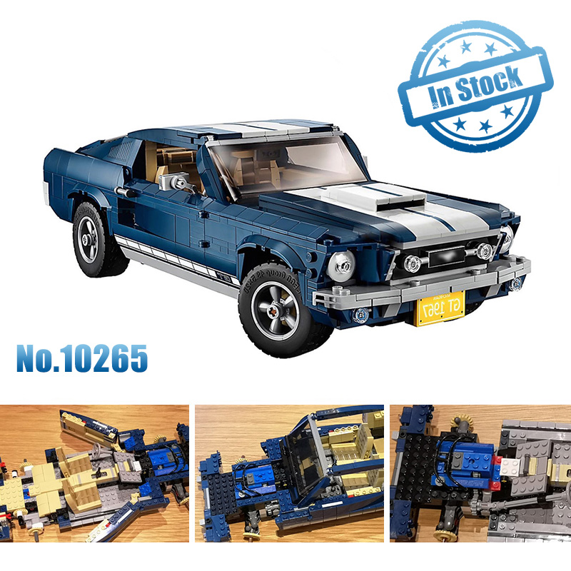 Forded Mustanged Creator Expert Technic Compatible 10265 Set Building Blocks Bricks Assembled DIY Toys Birthday Gifts