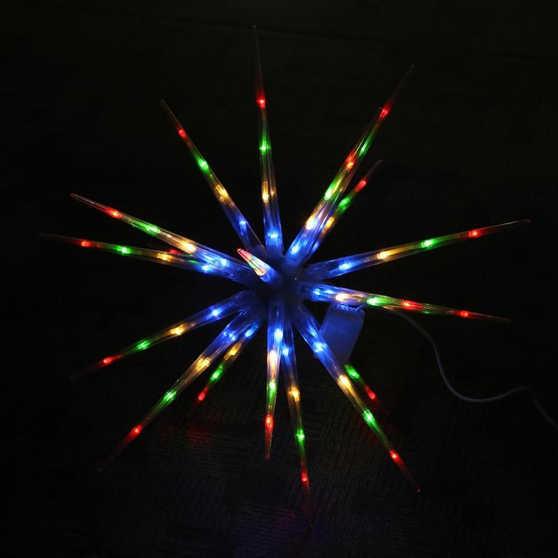 Snowflake Ball Shaped with Thorns LED Light Outdoor Indoor Holiday Garden Decoration Lamp For Christmas Lighting pe plastic led ceiling ball light indoor 16 colors waterproof for indoor outdoor