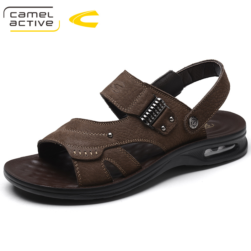 Camel Active Luxury Classics Summer Shoes Men Sandals Fashion Male Sandalias Beach Shoes Breathable Leather Sandals Flats 5681