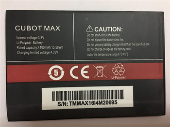 100% New CUBOT MAX Battery 4100mAh Replacement backup battery For CUBOT MAX Cell Phone In Stock