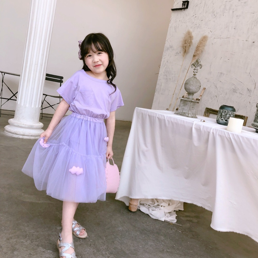 summer baby clothing set dress & skirt solid purple clothes set tutu skirt with solid dress summer baby clothing set dress & skirt solid purple clothes set tutu skirt with solid dress