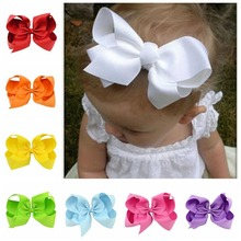 6-inch fashion new multi-color cocked flower bow clip childrens hair accessories