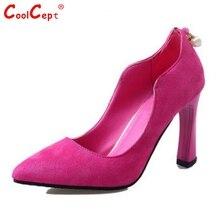 ผู้หญิงส้นหนารองเท้าผู้หญิงเซ็กซี่แหลมนิ้วเท้าส้นรองเท้าหนังสิทธิบัตรใหม่พรรคส้นรองเท้ารองเท้าขนาด35-39 Z00331