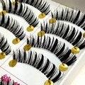 40 pares Handmade preto grandes olhos densas pestanas falsas naturais cruzadas maquiagem profissional Eye Lash Extension falso pestanas