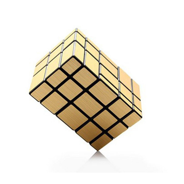 CT CubeTwist 3x3x5 Espelho Cubo Mágico de Plástico Preto Corpo com Goldern Cérebro Teaser de Etiqueta de Venda Quente Twisty Velocidade Enigma Brinquedo