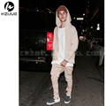 yezzy justin bieber Khaki/Black side zipper harem pants men jogger mens jumpsuit club wear chinos