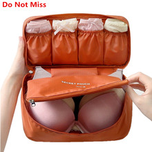 Do Not Miss Bra Underwear Travel Bag Suitcase Organizer Women Cosmetic Bag Luggage Organizer for Lingerie Makeup Organizers Bag(China)