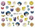 DLS377-382 DIY Láminas de Transferencia de Agua Nail Art Sticker Minx Uñas Decoraciones de Uñas de Moda Calcomanías de Dibujos Animados Harajuku Sailor moon