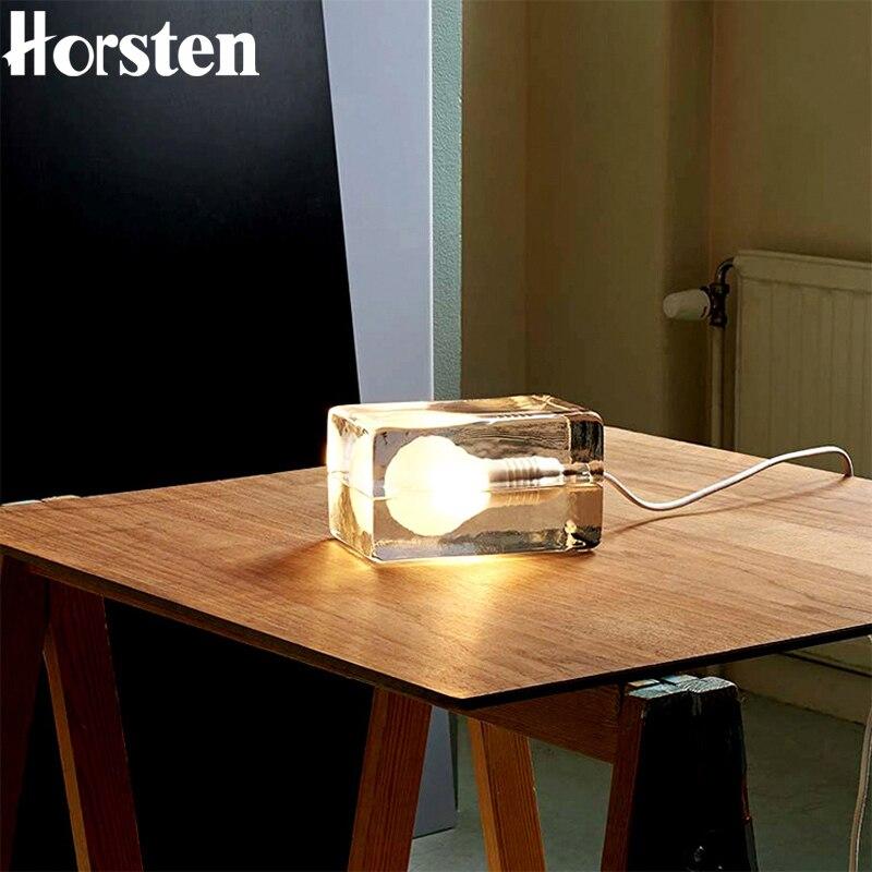Creative veilleuse bloc glaçons Table nuit lampe chambre Decortaion lampe de chevet G9 ampoule LED AC 220 V pour anniversaire noël cadeau
