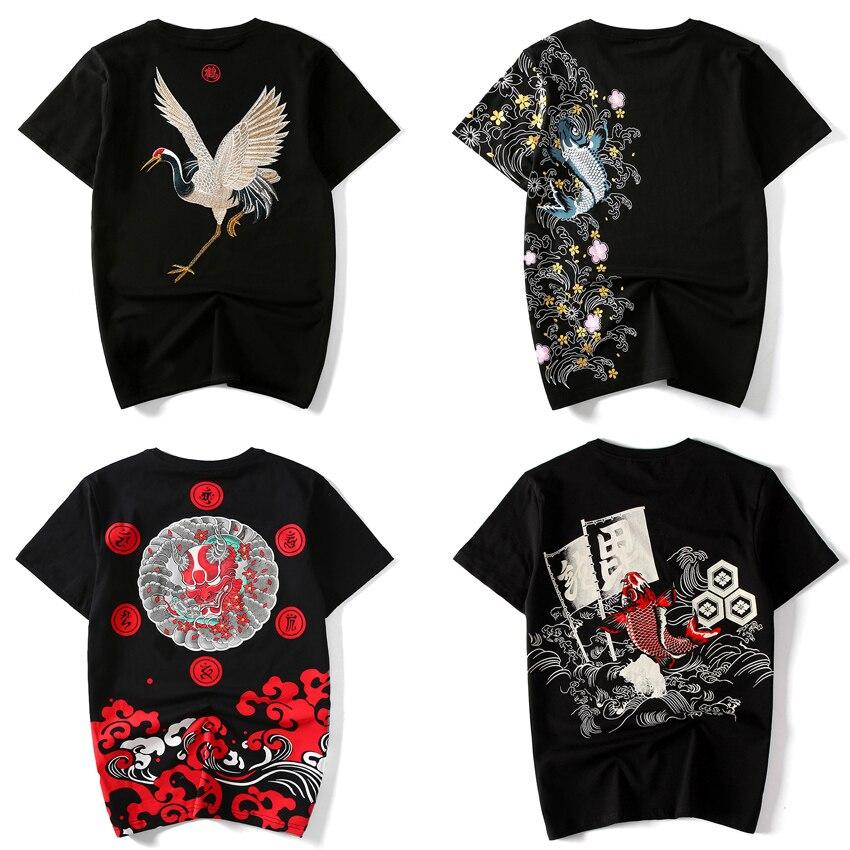 17Colors Oriental Japanese Chinese Style Kimono Samurai T-shirt Street Wear Hip Hop Harajuku Ukiyo Totem 3D Print Tops Tees