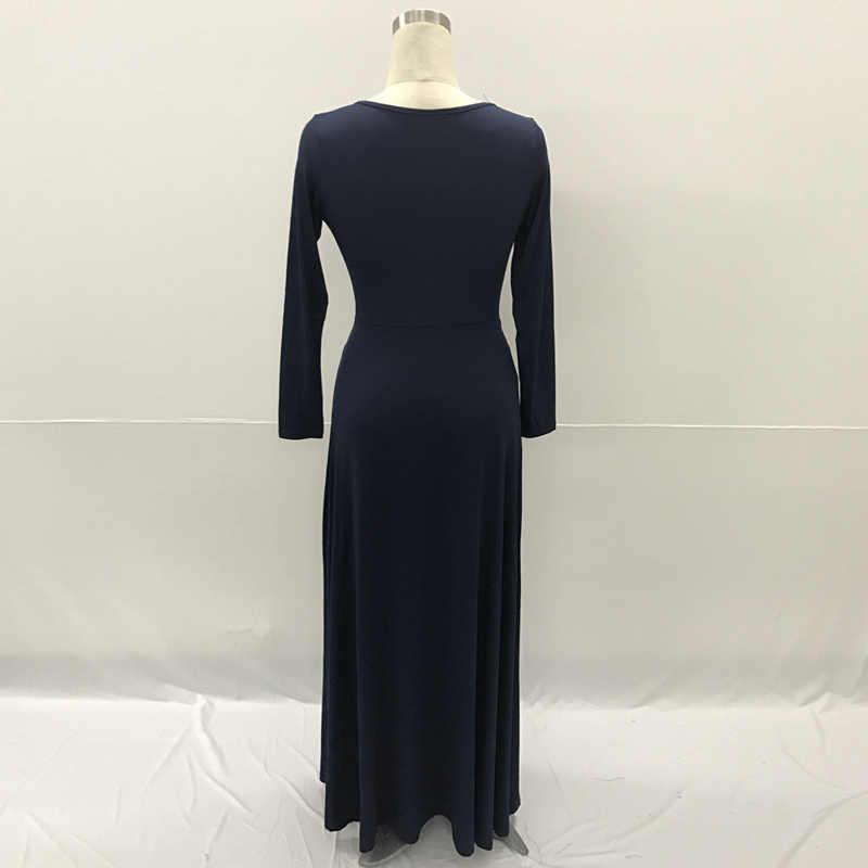 5f8a0c05e0f ... Плюс размеры Вечеринка Туника Платье для жира 2018 Весна с длинным  рукавом Элегантные пикантные Плиссированные платье