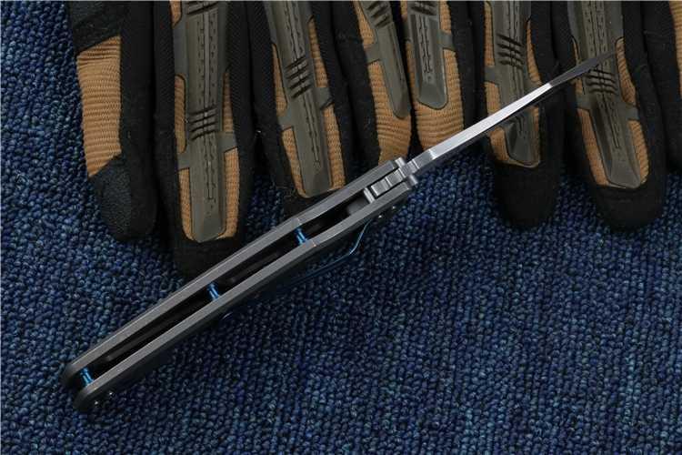 لانج ZT0392 سكين للفرد S35VN شفرة التيتانيوم مقبض الكرة تحمل التكتيكية سكين تخييم في الهواء الطلق بقاء OEM جيب أدوات EDC