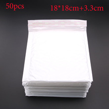 Special Offer! 10pcs / (18 * 18cm + 3.3cm) White Bubble Mail Envelope Bubble Postage Packing Envelope Transportation Bags