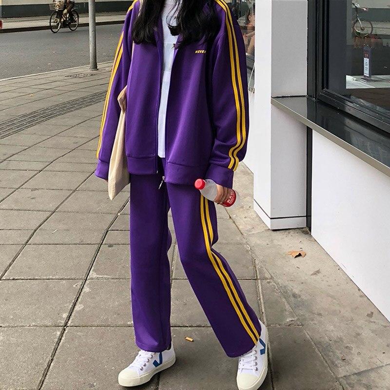 Tracksuit For Women Autumn And Winter Female Sweatshirt Jacket +pants Suits Women's Fashion 2 Piece Set Chandal Mujer Streetwear