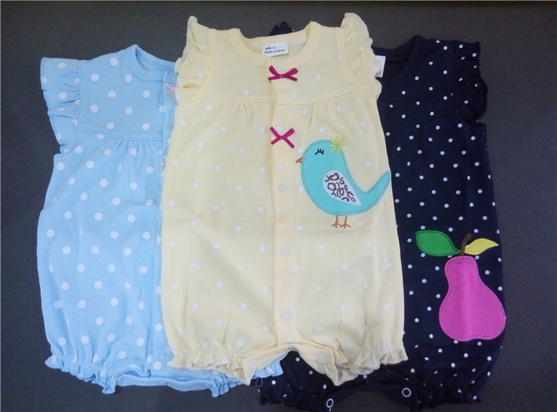Baby Rompers Summer Baby Girls Clothing Cartoon Newborn Baby Clothes Roupas Bebe Short Sleeve Baby Girl Clothes Infant Jumpsuits 2