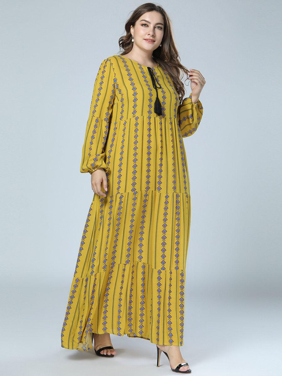 e038efc973 TUHAO Long Sleeve Shirt Dress Muslim Kaftan Caftan Casual Dress Plus Size  4XL 3XL Women Maxi Dress Print Long Dresses Female ZZL. RM16779234635487302