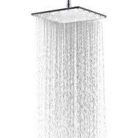 12inch Large Sqare LED Rainfall Shower Head Luminous Shower head White Color Romantic Rain Shower