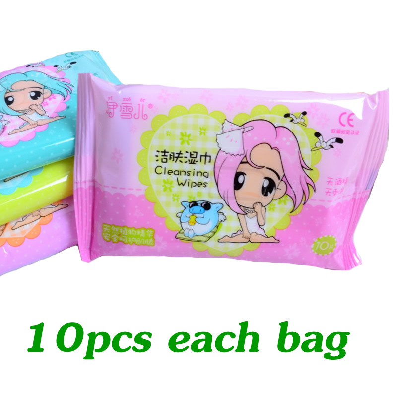 1 Pack Hand & Mouth Baby Wet Wipes Kids Portable Wet Wipes Mini Wet Wipes Children Travel Wet Wipes SJ05