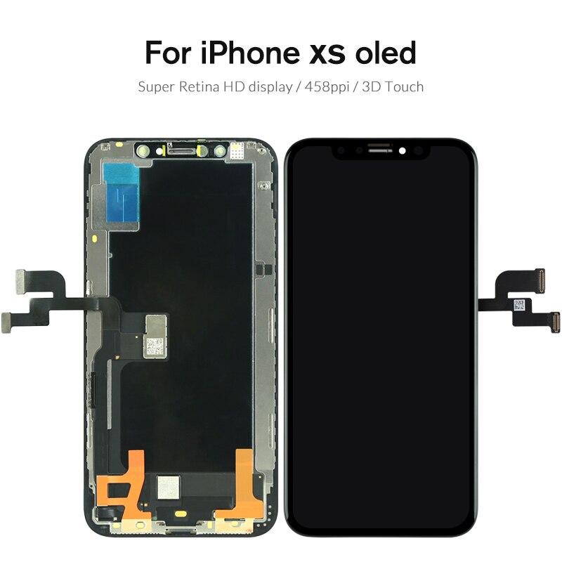 Noir OEM OLED Panneau Pour iPhone X XS LCD ensemble numériseur à écran tactile Téléphone Pièce De Rechange Pour iPhone XS Max XR écran LCD - 5