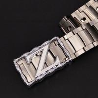 2017 New Style Mens Belts Luxury Stainless steel metal belt Designer Belt Men High Quality Ceinture Homme