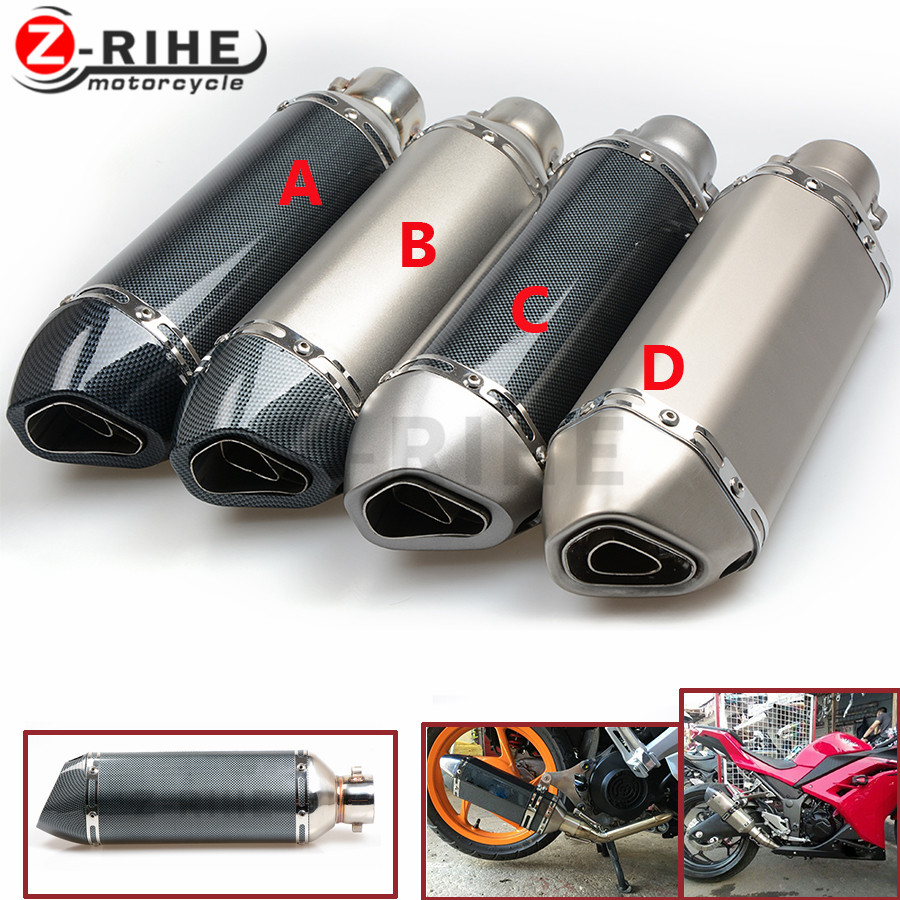 Motorcycle parts Exhaust Universal 51mm Stainless Steel Motorbike Exhaust Pipe For Yamaha YZF R6 r1 r3 fz6n fz6s fazer ybr A for modified exhaust motorcycle silencer exhaust pipe fiber stainless steel universal 36 51mm for suzuki hayabusa gsxr1300 gsxr7
