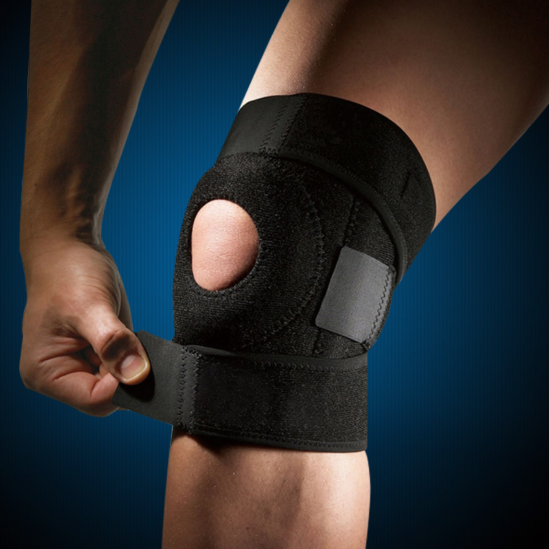 26e6181096 Adjustable EVA Patella Knee Pads Hole Sports Safety Guard Strap Spring  Elastic Knee Support Brace Kneepad Cycling Running-in Elbow & Knee Pads  from Sports ...