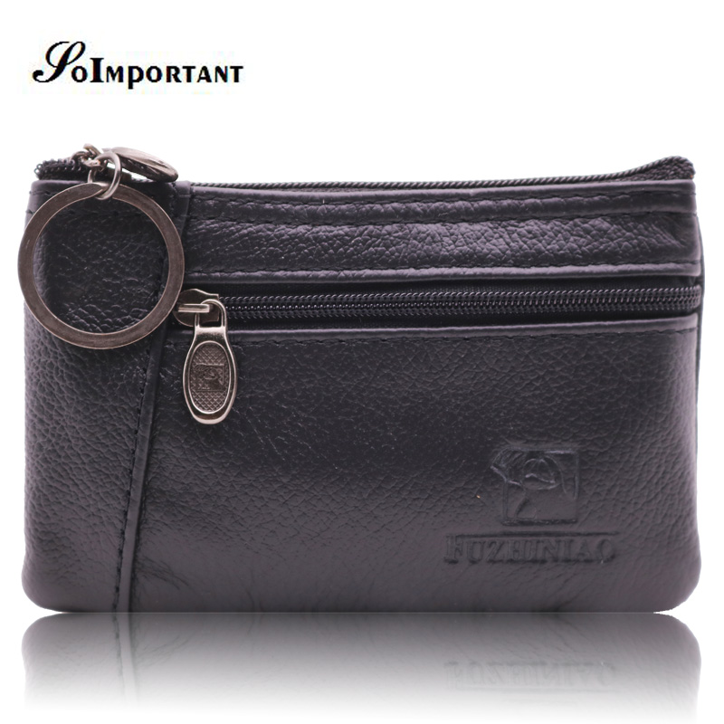 Wallet Purse Genuine Leather Men Wallets Brand Coin Purse Small Thin Men Wallet Card Holder Mini Slim Clutch Male With Key Ring