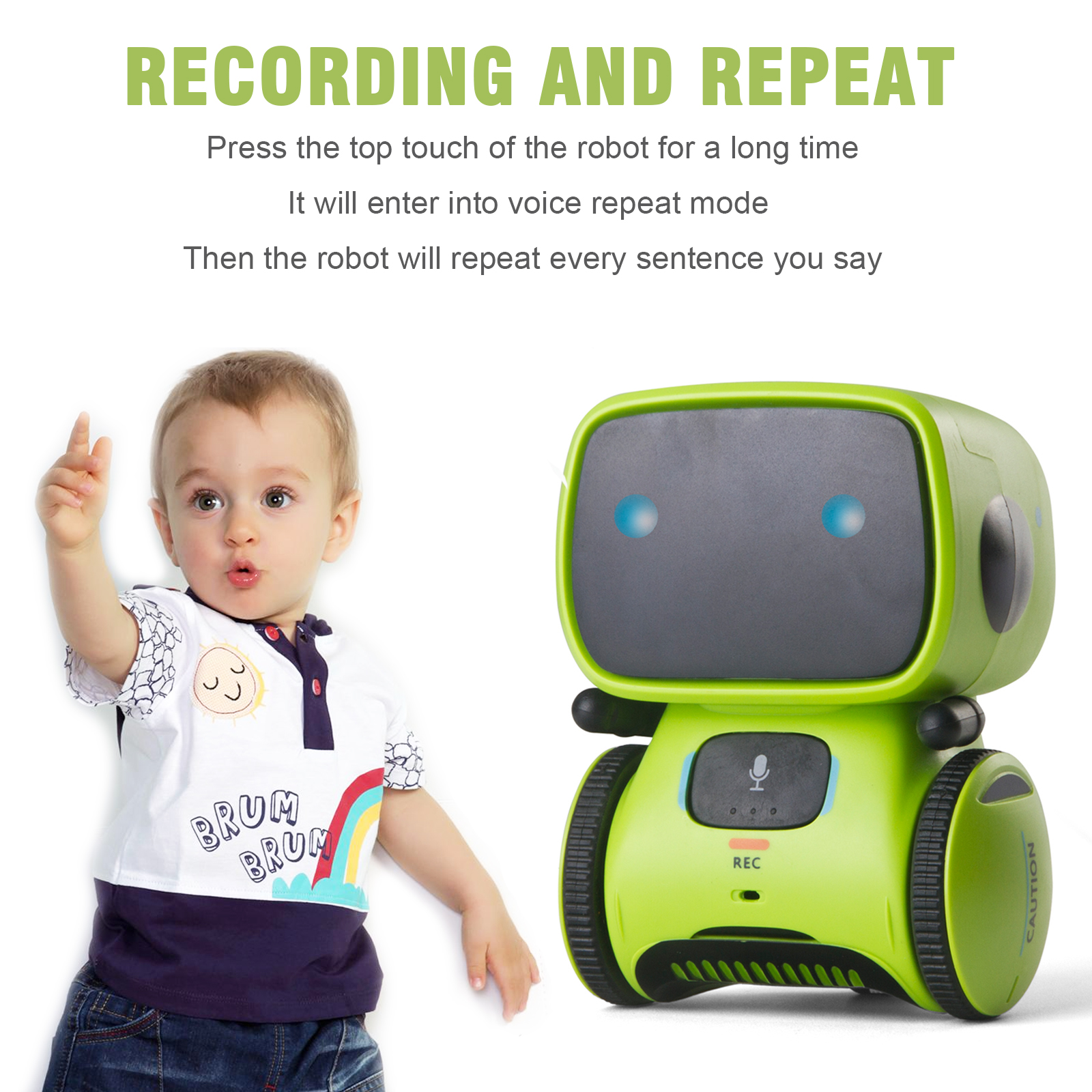 Voice Command Smart Robot Touch Control Programming Dance Interactive Robot Toy Cute Figure Robot for Kids Gift random color