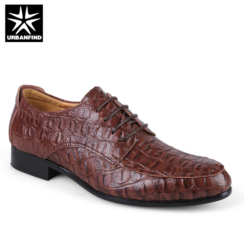 Useful Alligator China Designer Brand Male Brown Dress Italian Crocodile Skin Leather Office Social Cheap Cocodrilo Formal Shoe For Men 2019 New Fashion Style Online Formal Shoes