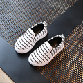 2017 new arrival 1-12 anos de bebê/crianças raia shoes moda meninos/meninas shoes branco preto listrado agradáveis crianças sneakers a02122