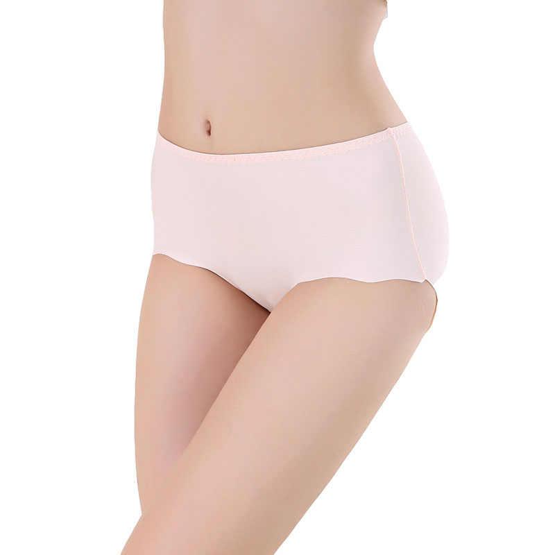 Нижнее белье размера плюс, женские трусики, бесшовные, хлопок, шелк льда, трусы, стринги, нижнее белье, сексуальные трусы, шорты, прочные трусики для девочек 4XL