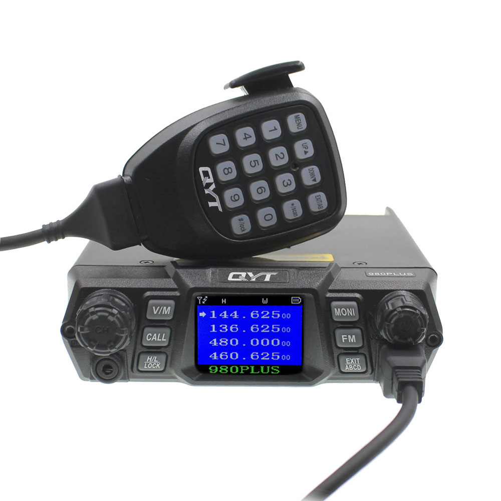 QYT KT-980 Plus Walkie Talkie 75W VHF / 55W UHF Dual Band Quad Standby KT-980Plus Car Radio Mobile Radio Ham Radio