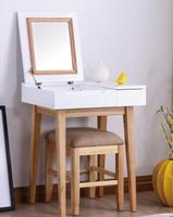 Dressing table. Paint white makeup table. The bedroom covers the makeup table