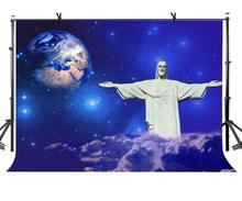7x5ft Christ Statue Backdrop Hug Everything The Great Photography Background and Studio Props