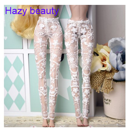 Accessories White Lace Sock Stockings Casual Pant Trousers For BB 1:6 Doll BBI1026