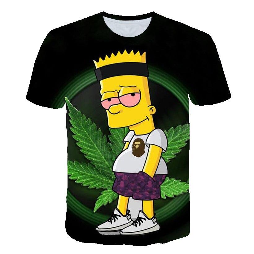 3d impressão simpson de fumar erva daninha t shirts/camisolas/hoodies/calças dos homens engraçado tee streetwear hiphop pullover treino encabeça calções