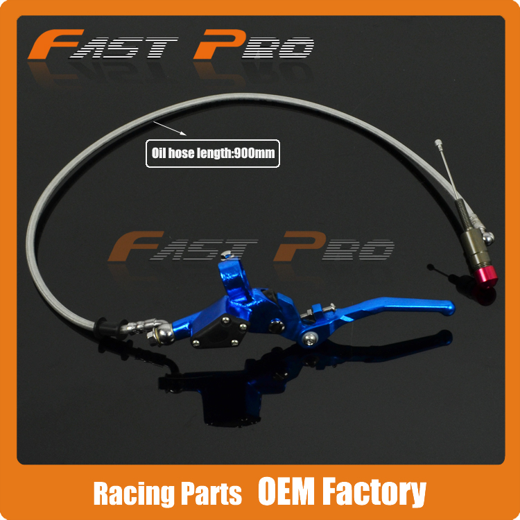 900mm Blue Hydraulic Clutch Lever Master Cylinder For 50-125cc Vertical Engine Offroad Motorcycle Dirt Bike ATV lifan 125 125cc engine left crankcase stator rotor casing case dirt bike atv