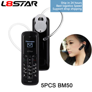 Image 1 - 5 PZ/LOTTO BM50 L8STAR Mini Cuffia del Telefono di Tasca GTSTAR Sbloccato Senza Fili Auricolare Bluetooth Dialer Dual SIM MINI commercio allingrosso DEL TELEFONO