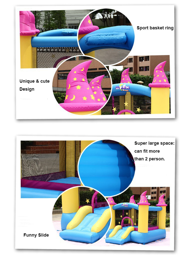 HTB13zHzPXXXXXabapXXq6xXFXXXd - Mr. Fun Kids Bouncy Castle Inflatable Trampoline Slide with Blower