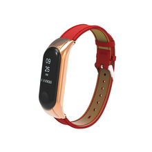 2018 Bracelet for Xiaomi Mi Band3 band xiaomi miband 3 strap bracelet Leather