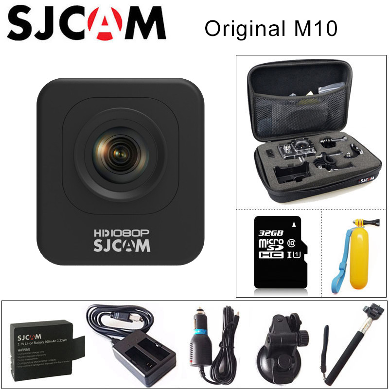 цена на Original SJCAM M10 Sports Action Camera Full HD 1080P 170 degrees Mini Diving 30M Waterproof Camera mini Camcorder M10 Sport DV