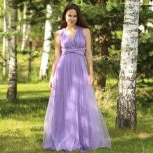 TANYA BRIDAL V Neck Tulle Bridesmaid Dress Floor Length. US  59.00   piece Free  Shipping da24b91dad55