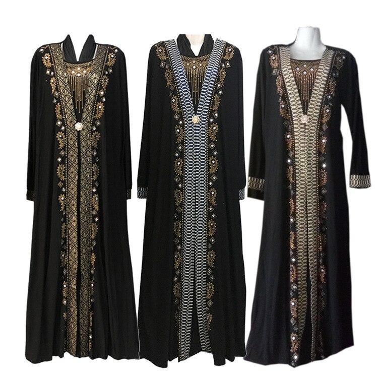 Musulman Dubaï section 2018 chaude robe de forage Moyen-Orient grande taille femmes de vêtements