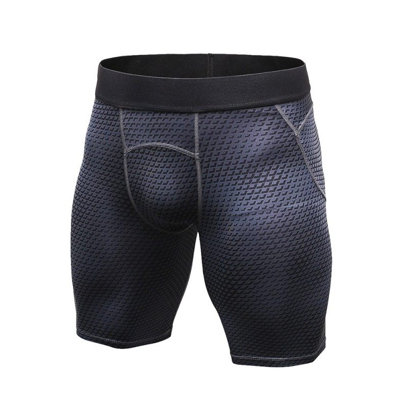 2019 Men Bodybuilding Pants Men Tight Elastic Compression Pants Fitness Brand Clothing Wicking Bermuda Short Pants Homme