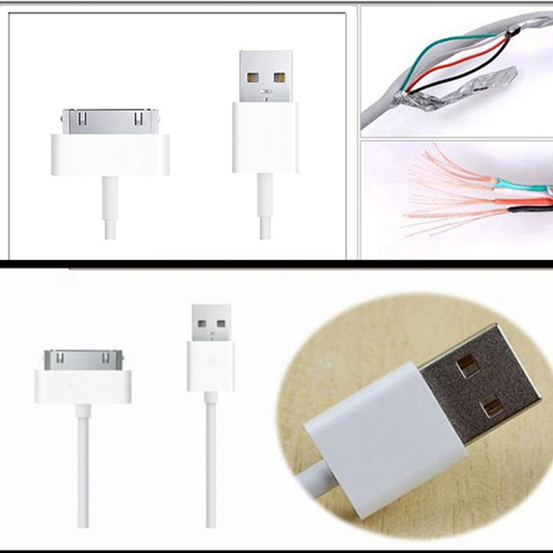 50pcs 1m 3ft Colorful 30pin Wire USB 20 Data sync Charger