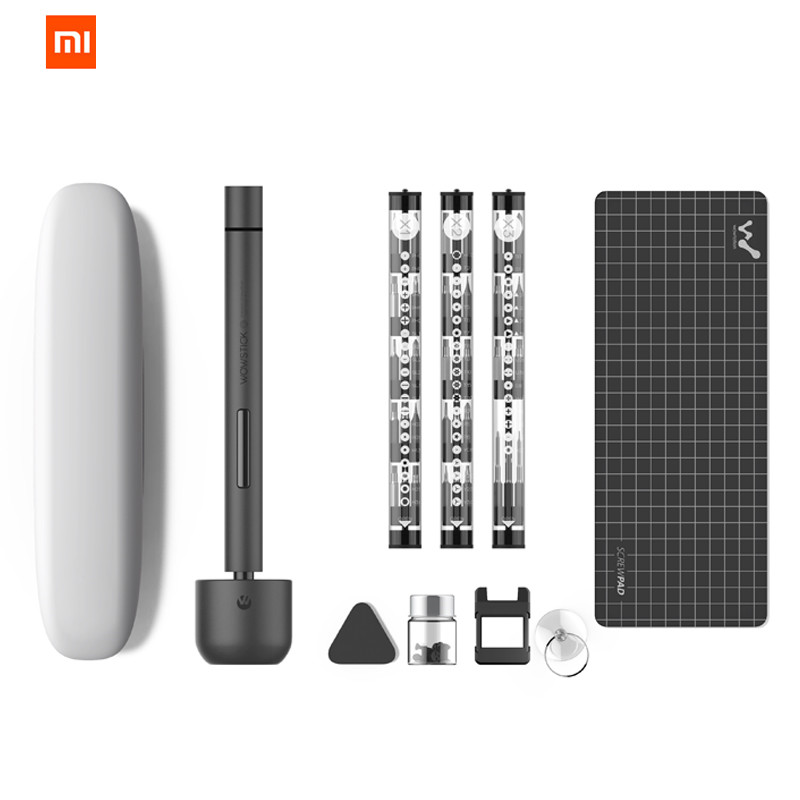 Original XIAOMI Mijia Wowstick 1F + 64 en 1 tornillo eléctrico Mi driver inalámbrico de Litio-ion carga LED Power Screw mijia driver kit