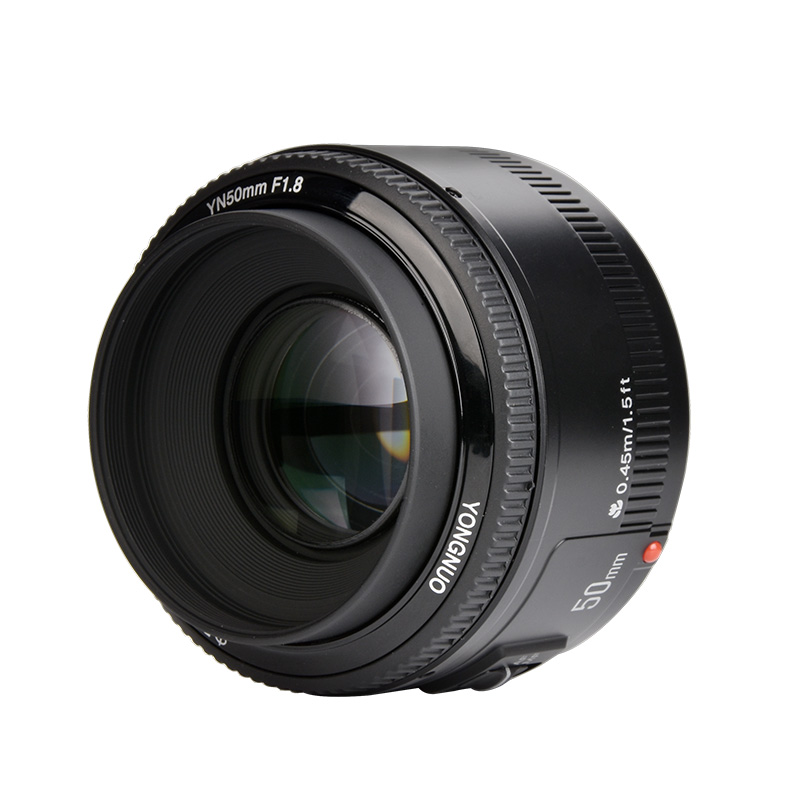 In Stock!YONGNUO YN50mm f1.8 YN EF 50mm f/1.8 AF Lens YN50 Aperture Auto Focus for Canon EOS DSLR Cameras camera auto focus lens adapter ii for canon eos ef ef s to sony full frame nex a7 a7r
