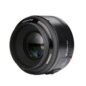 Image 2 - 재고! YONGNUO YN50mm f1.8 YN EF 50mm f/1.8 AF 렌즈 YN50 캐논 EOS DSLR 카메라 용 조리개 자동 초점